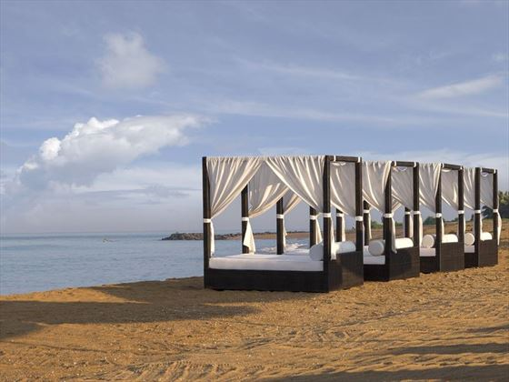 Beach cabanas at Anantara Kalutara