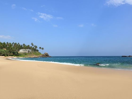 The beach at Anantara Tangalle Peace Haven