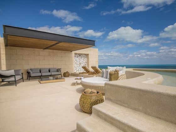 Master Suite terrace at Atelier Playa Mujeres