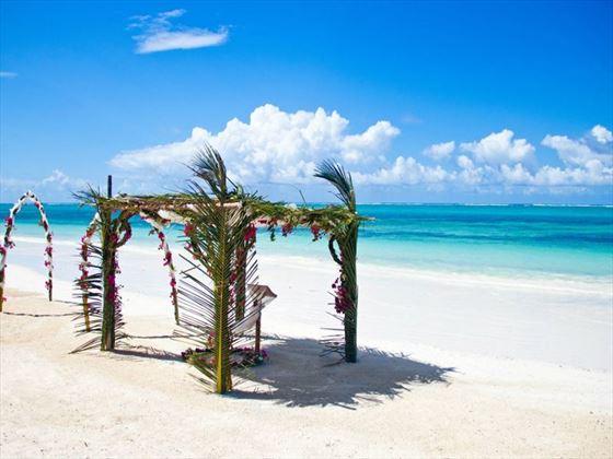 Beautiful beach wedding at the Baraza Resort & Spa