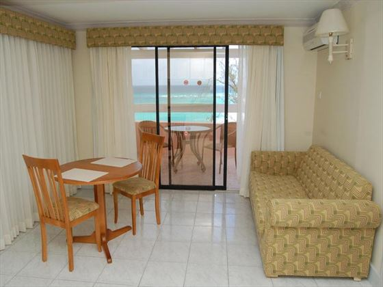 Barbados Beach Club Penthouse sitting area