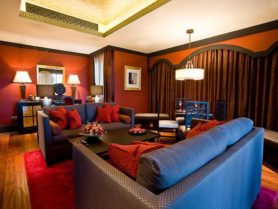 Battuta suite living room at Movenpick IBN Battuta Gate