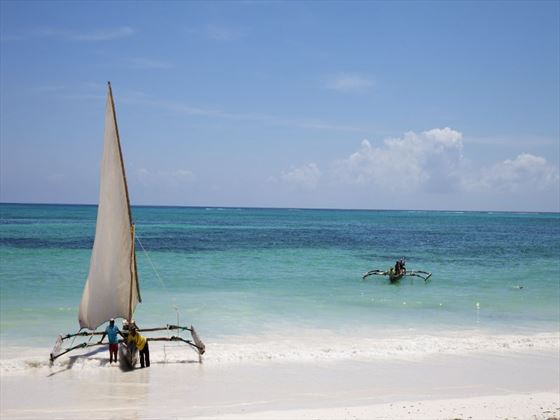 Beach and sailing at Bluebay Resort & Spa