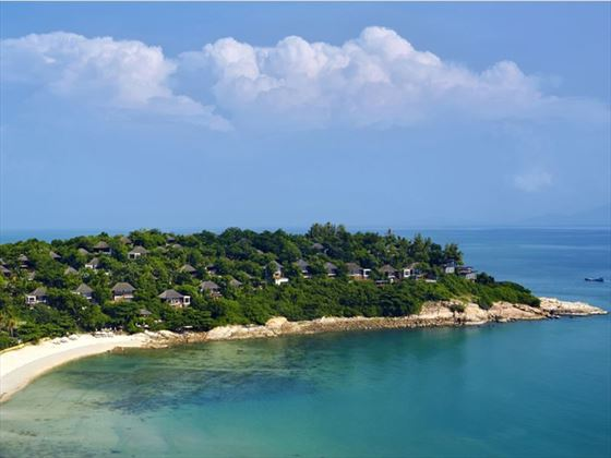 Beach at Six Senses Samui