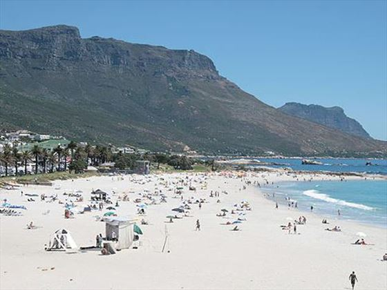 Beach location at Camps Bay Resort
