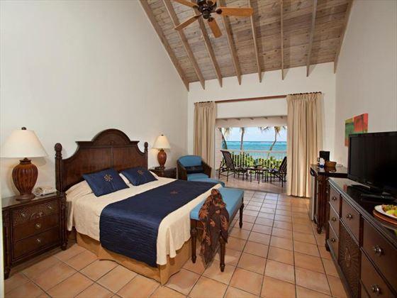 Beachfront room at St James's Club & Villas