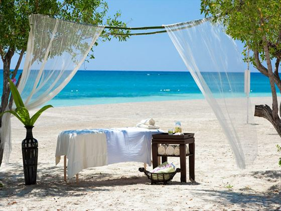 Beachfront spa treatment at Sandals Whitehouse European Village and Spa