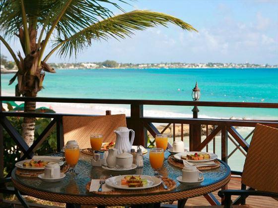 Beachside dining at Sea Breeze Beach Hotel