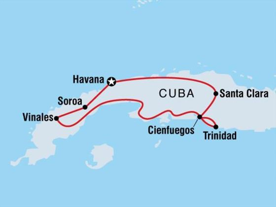 Beautiful Cuba Map