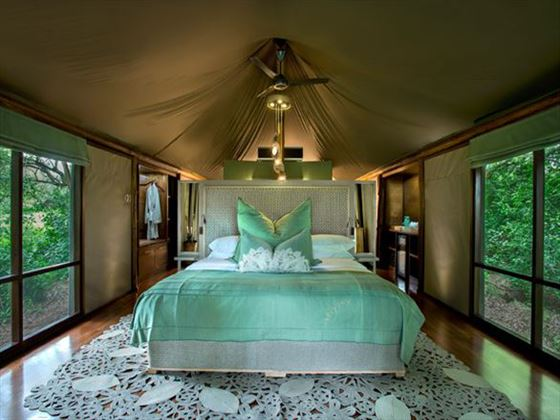 Bedroom at Ngala Tented Camp
