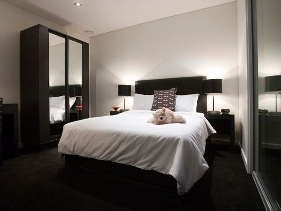 Bedroom at Waldorf Stadium Apartments