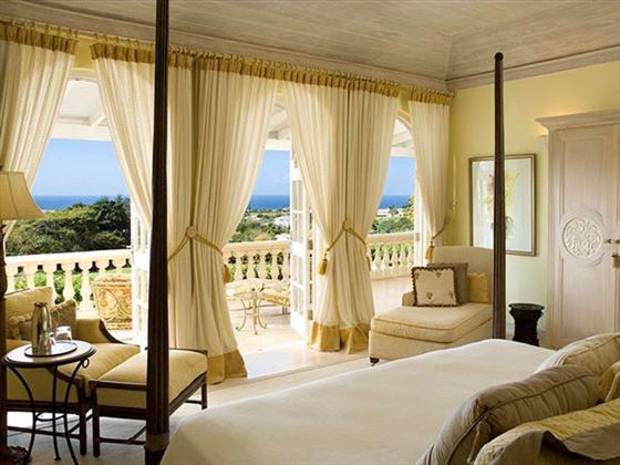 Views over the ocean from the bedroom