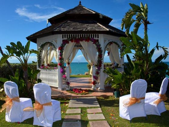 Blue Waters wedding gazebo