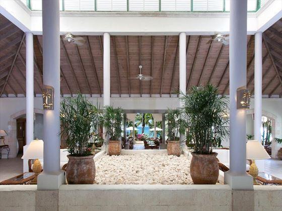 Blue Waters Hotel lobby area