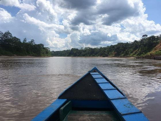 Boat into the Amazon
