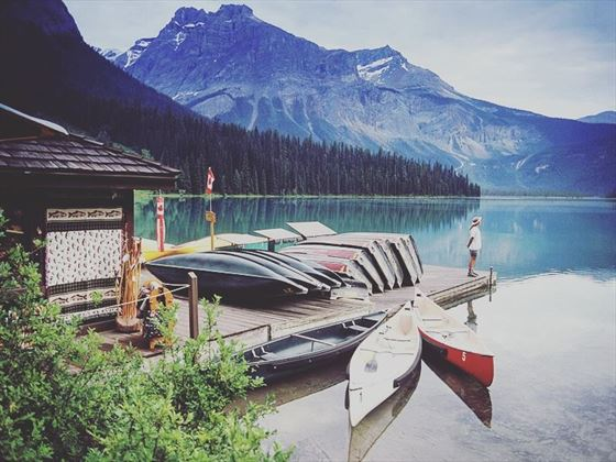 Boat launch at Emerald Lake Lodge
