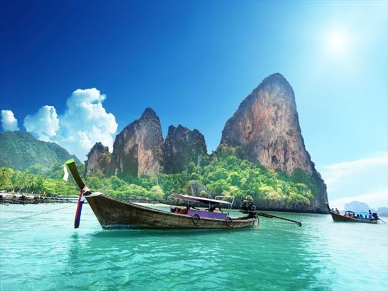 Boats on Railay Beach