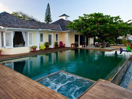 The gorgeous private pool at Bolt House