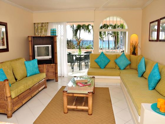 Bougainvillea Beach Resort One-bedroom Suite living room