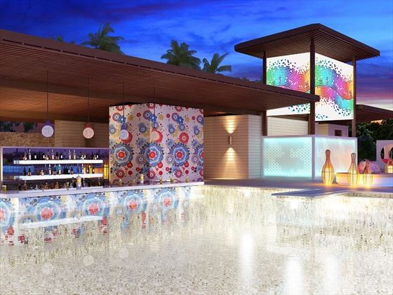 Freestyle swim-up bar - artist's impression