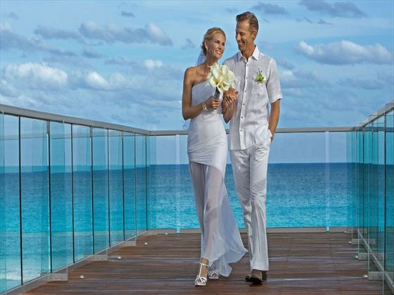 Couples can sneak away for a romantic moment on the bridge, offering exquisite views