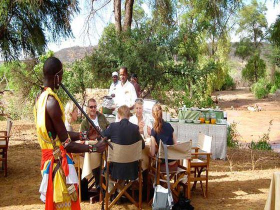 Bush dinner at Samburu Intrepids