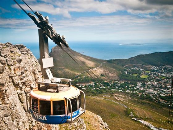 Cable car ride at Table Mountain