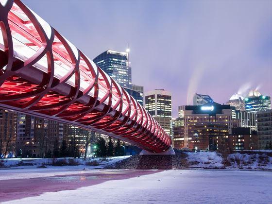 Calgary's Peace Bridge, Alberta