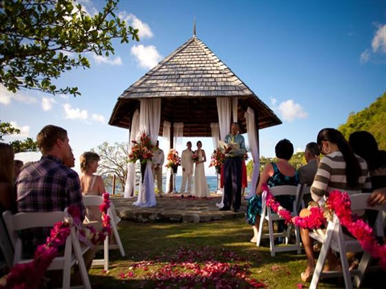 Wedding ceremony at Cap Maison