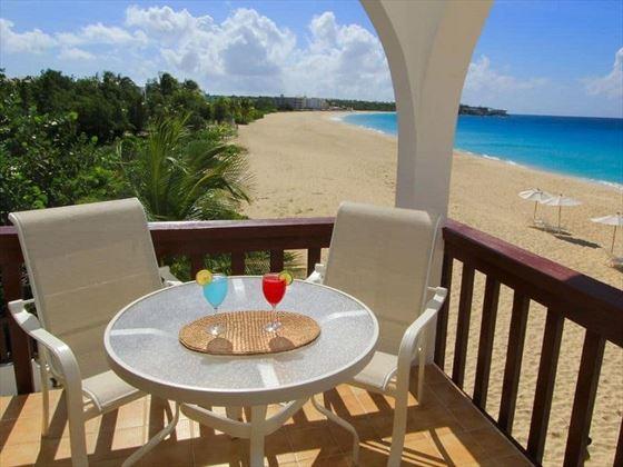 Beach Front Villa balcony