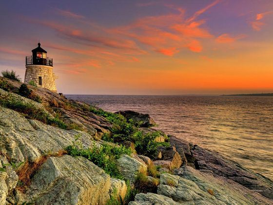 castle hill lighthouse  newport rhode island