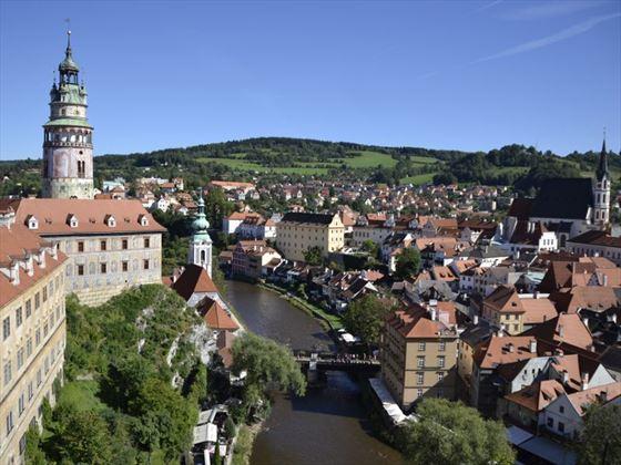 The fairy-tale town of Cseky Krumlov in the Czech Republic