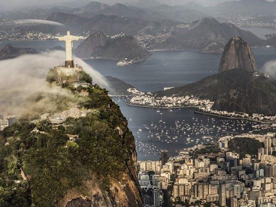 Christ the Redeemer Statue overlooking Rio, Brazil