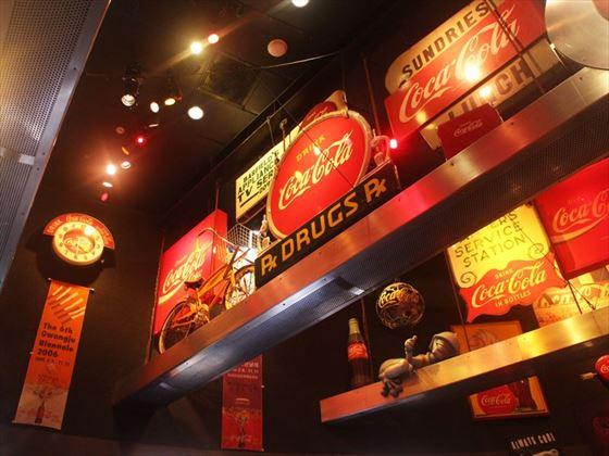 Memorabilia at the World of Coca Cola, Atlanta