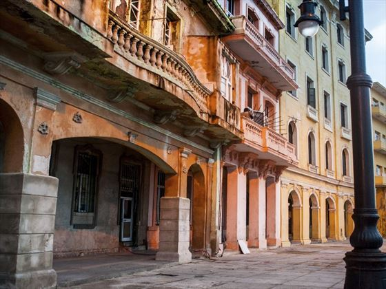 Colonial buildings in Havana
