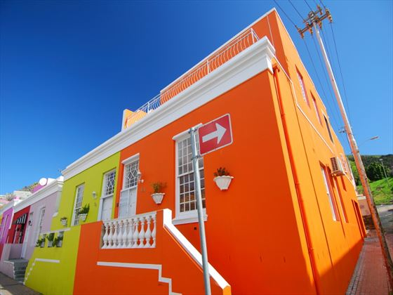 Colourful Cape Town buildings