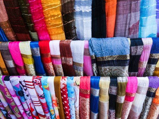 Colourful silks, Hoi An