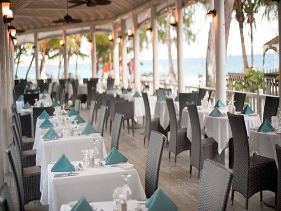 Sandals Barbados restaurant with sea views