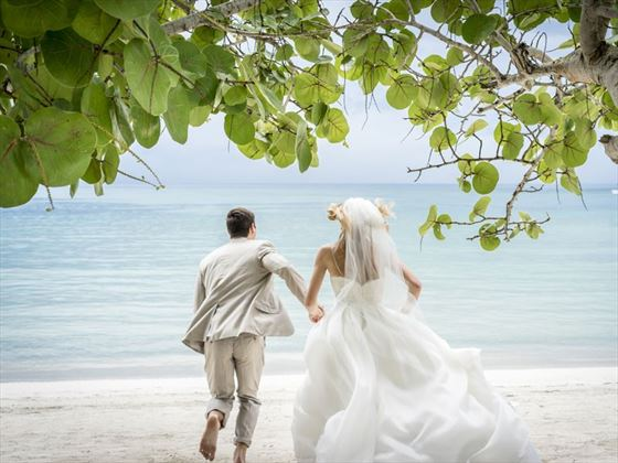 Couples Negril Jamaica Caribbean Wedding Tropical Sky