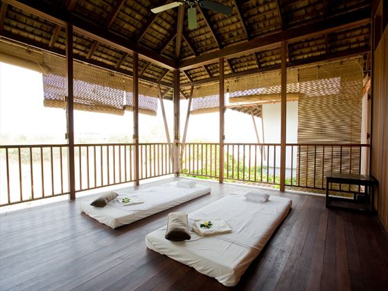 Couples spa treatment room at YaiYa Boutique Resort