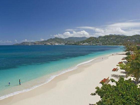 Coyaba's beachfront setting on Grand Anse Beach