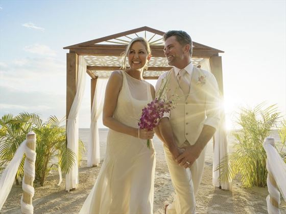 Wedding couple at Couples Swept Away