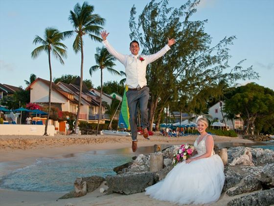 Wedding couple at Crystal Cove Barbados