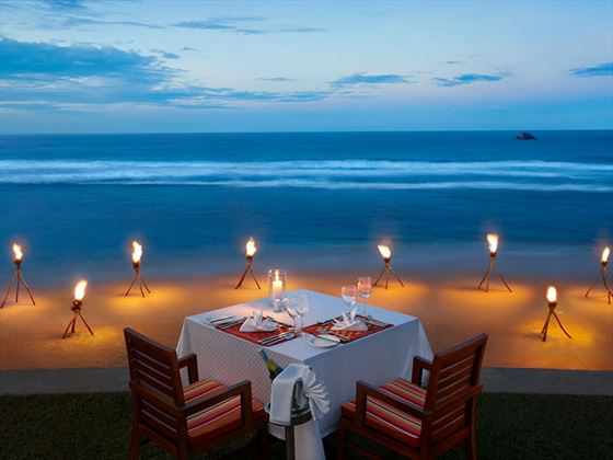 Romantic honeymoon dining