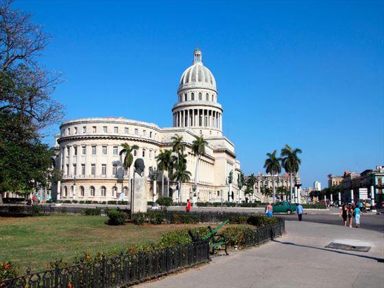 Cuban architecture in Havana city centre