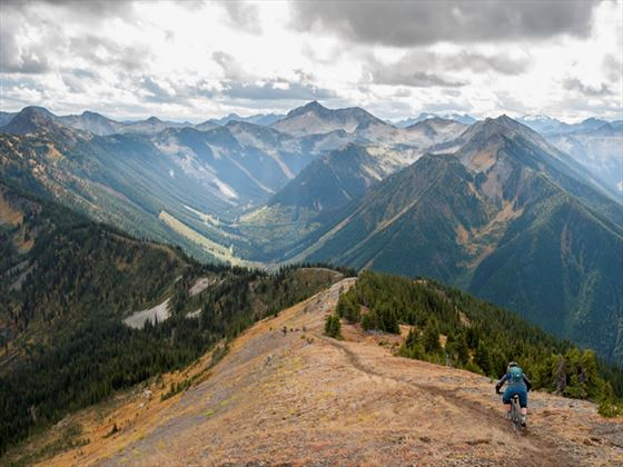 Cycling Selkirk Mountains, Kootenays
