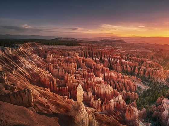 Dawn over Bryce Canyon National Park