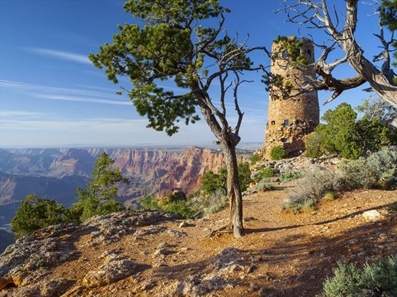 Watchtower overlooking the Grand Canyon