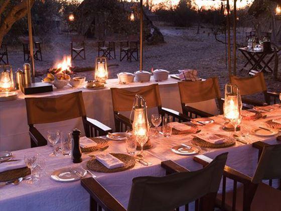 Dining at Chobe Under Canvas