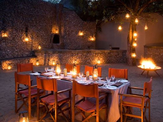 Dining at Ngala Lodge